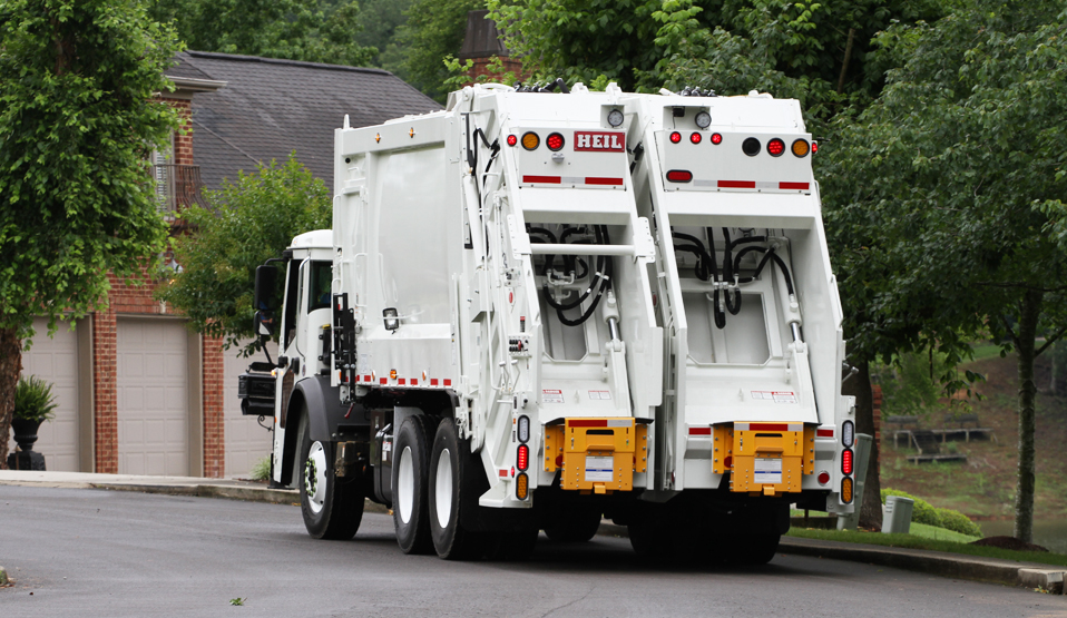 Two Compartment Rear Load Garbage Truck