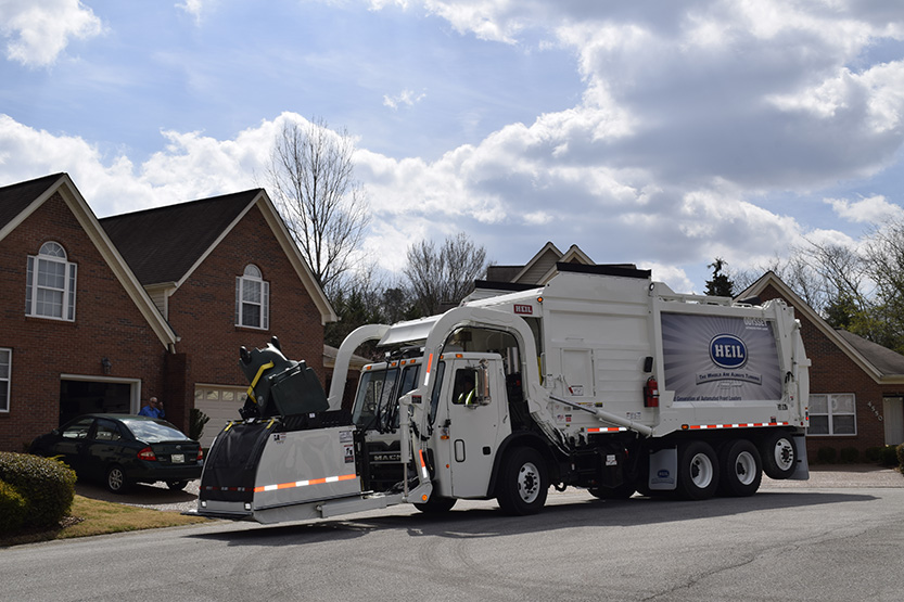 Automated Front Load Garbage Truck