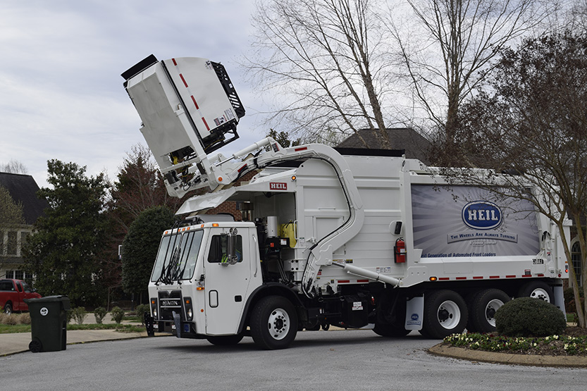 Automated Front Load Trash Truck