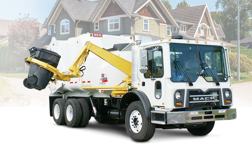 Heil Sideload Garbage Truck