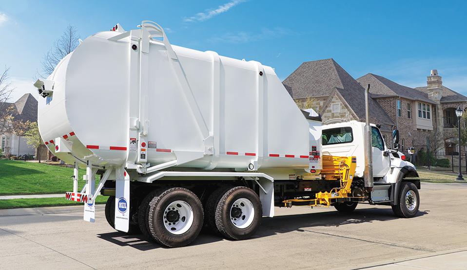 Rapid Rail Sideloader Trash Truck