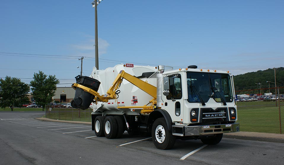 Rapid Rail Automated Sideload Garbage Trucks