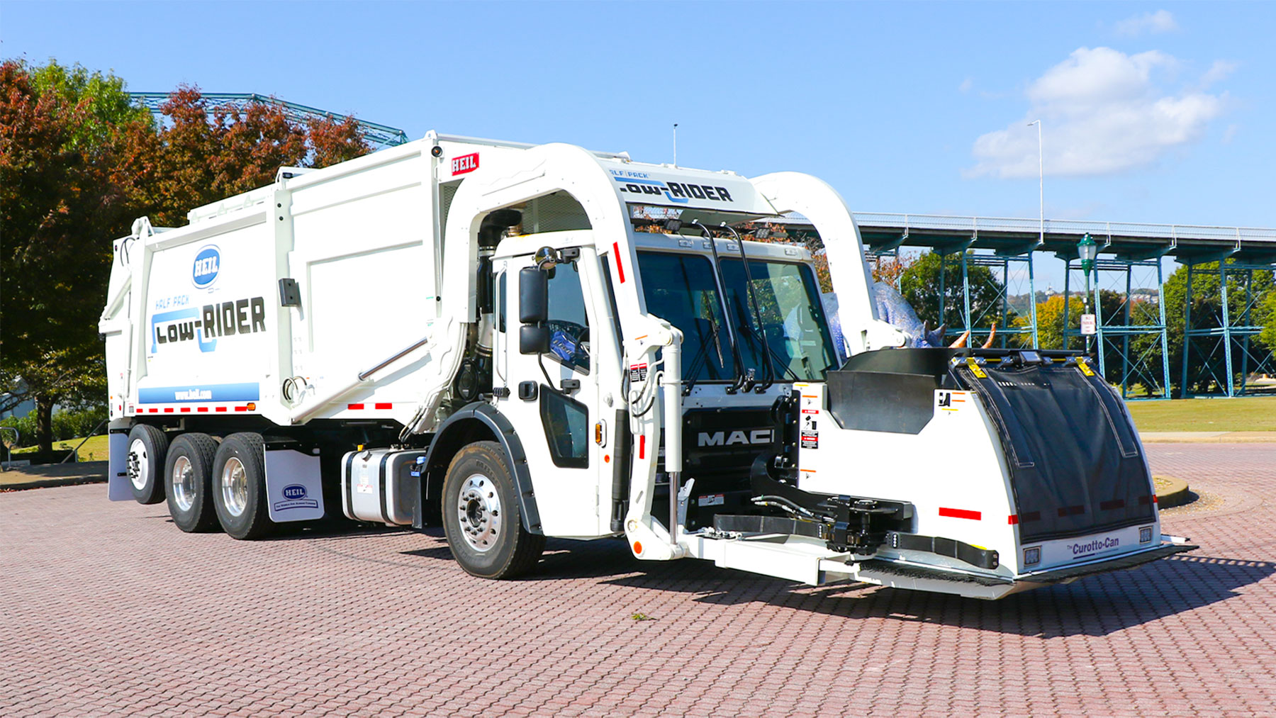 LowRider Automated Front Load Garbage Truck Video
