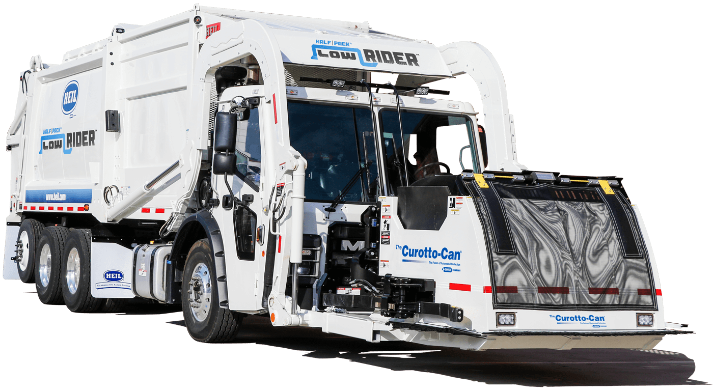 LowRider Automated Front Load Garbage Truck