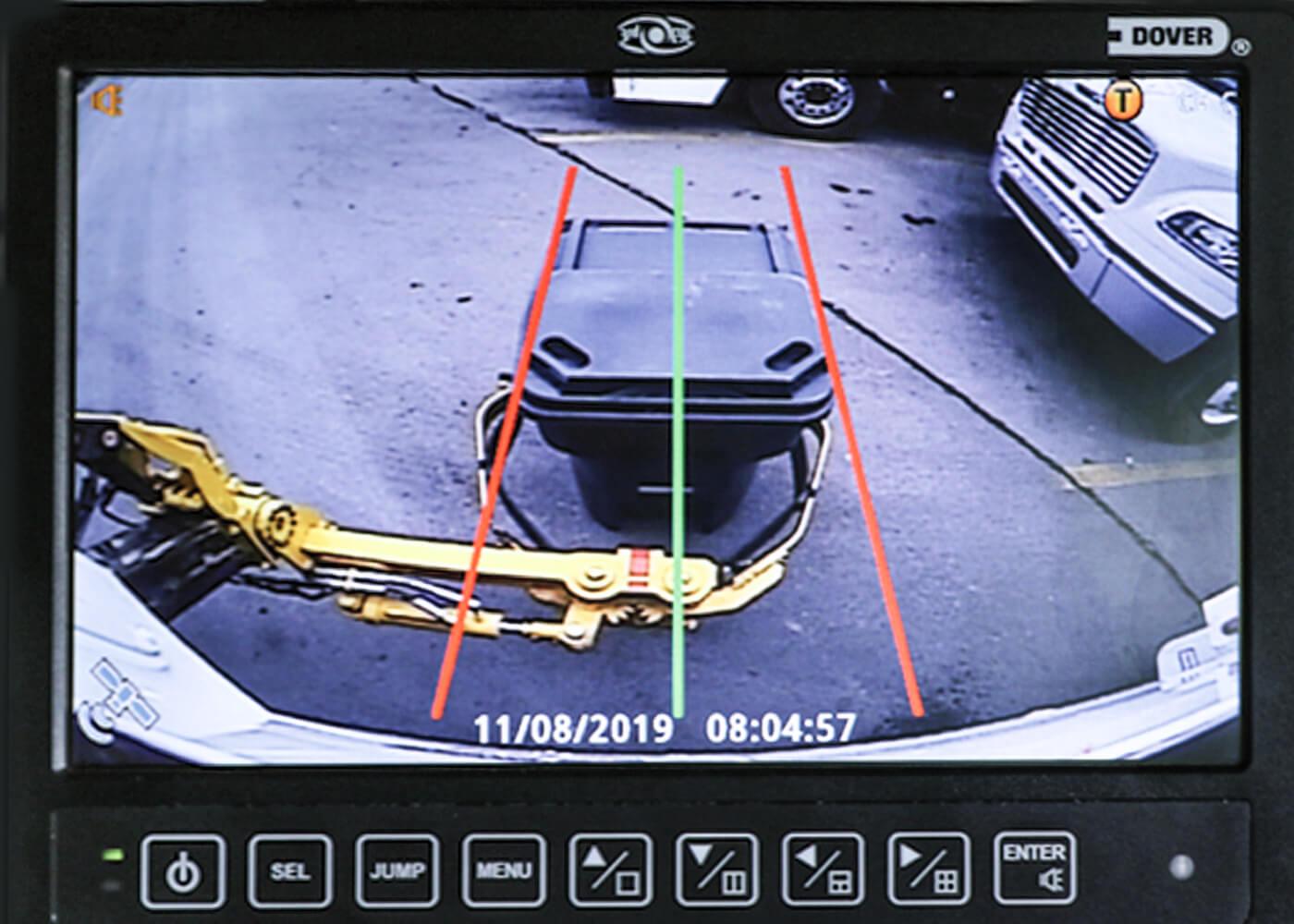 Sideload Garbage Truck Arm Camera Grabber Lines