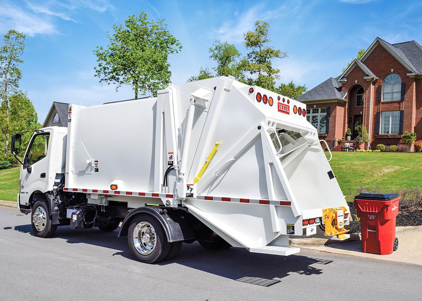 Under CDL Mini Rear Load Garbage Trucks